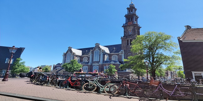 The old churches of Amsterdam